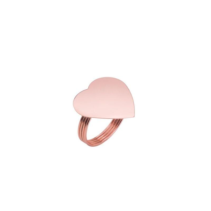 Jogo de porta guardanapos formato coração zamac cobre c/ 4und  4cmx3,5cm. Cód.7630