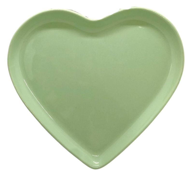 [OUTLET] Prato raso de cerâmica verde bebê - Cód. OUTER146VB [OUTLET]