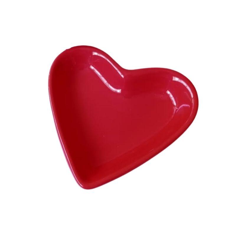 Pires formato coração vermelho - Cód. ER148V