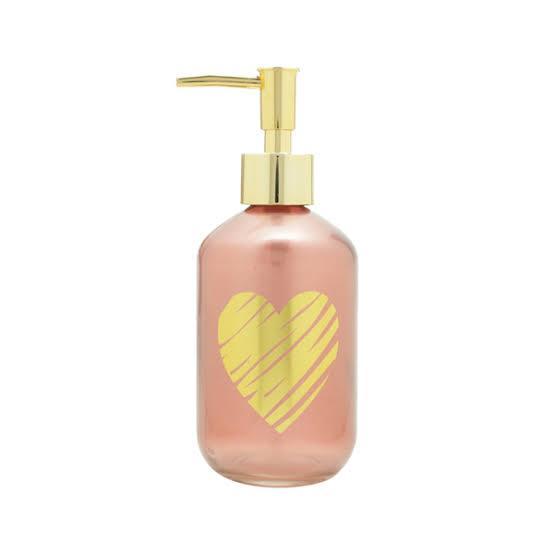 Porta Sabonete líquido vidro rosa  250ml Cód.41879