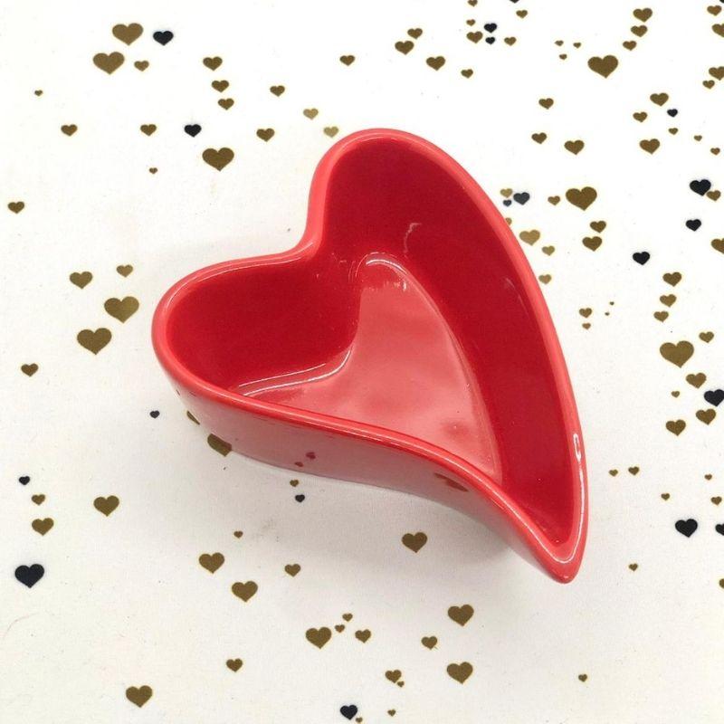 Pote em formato de coração design 90ml vermelho - Cód. FY5332