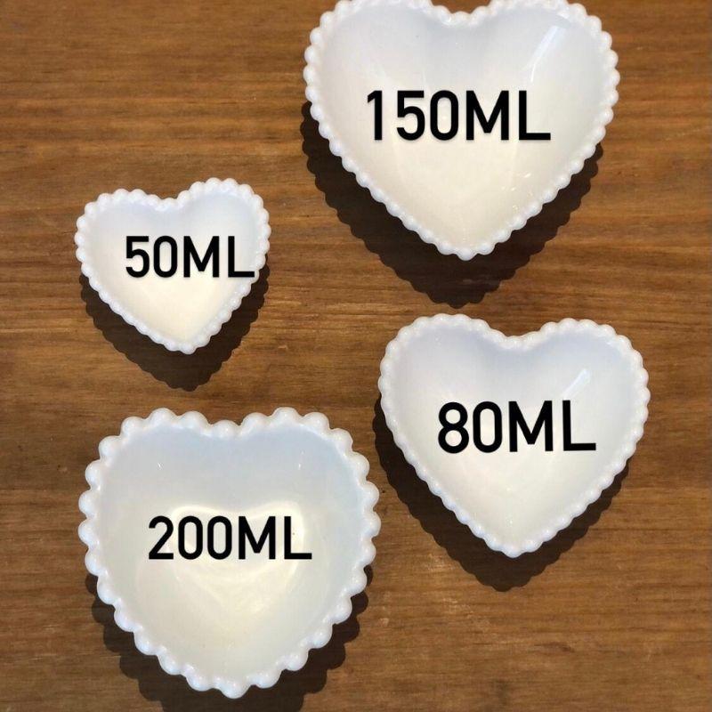Pote formato coração com borda de bolinha 80ml - Cód. OC432