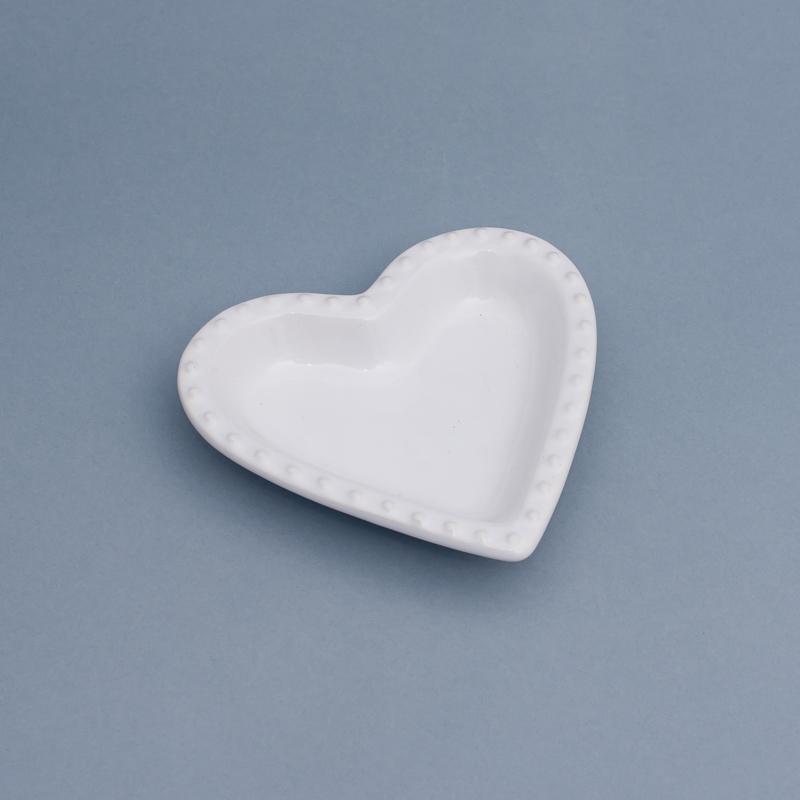 Pote formato coração com borda de bolinha - Cód.ER149S