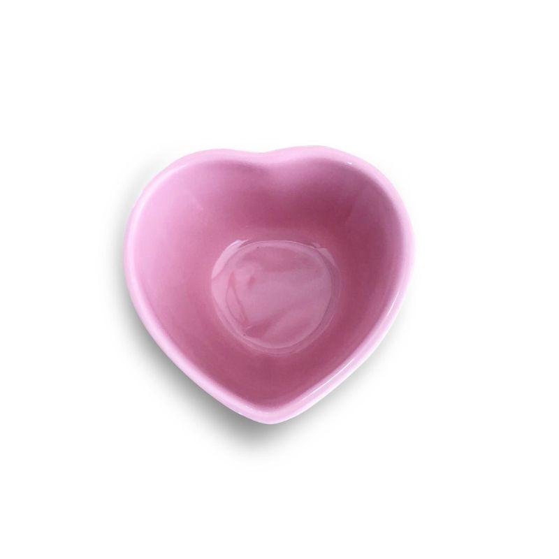 Pote formato coração de cerâmica alto rosa 120ml - FY5239