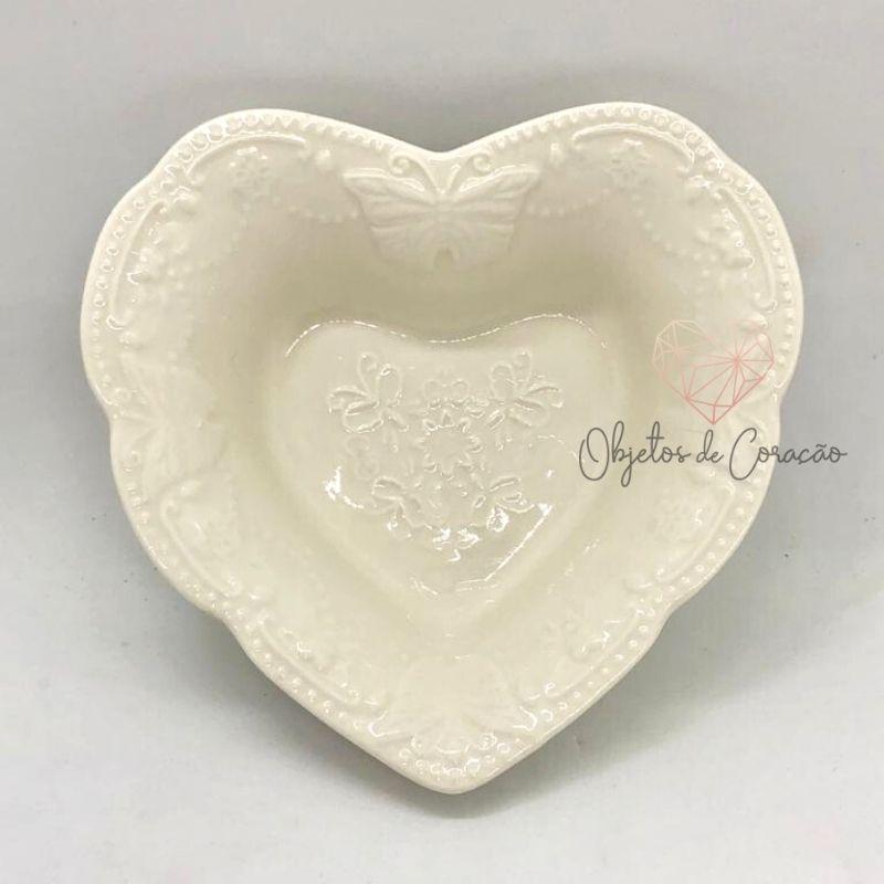Pote formato coração estampa de borboleta. Cód.DEC01711