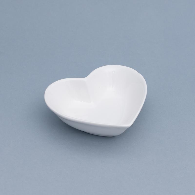 Pote formato coração fundo cerâmica branco 150ml import. - Cód OC417