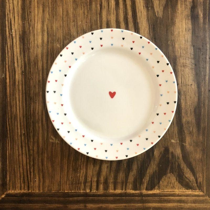 Prato de sobremesa amor colorido. Cód. OC451