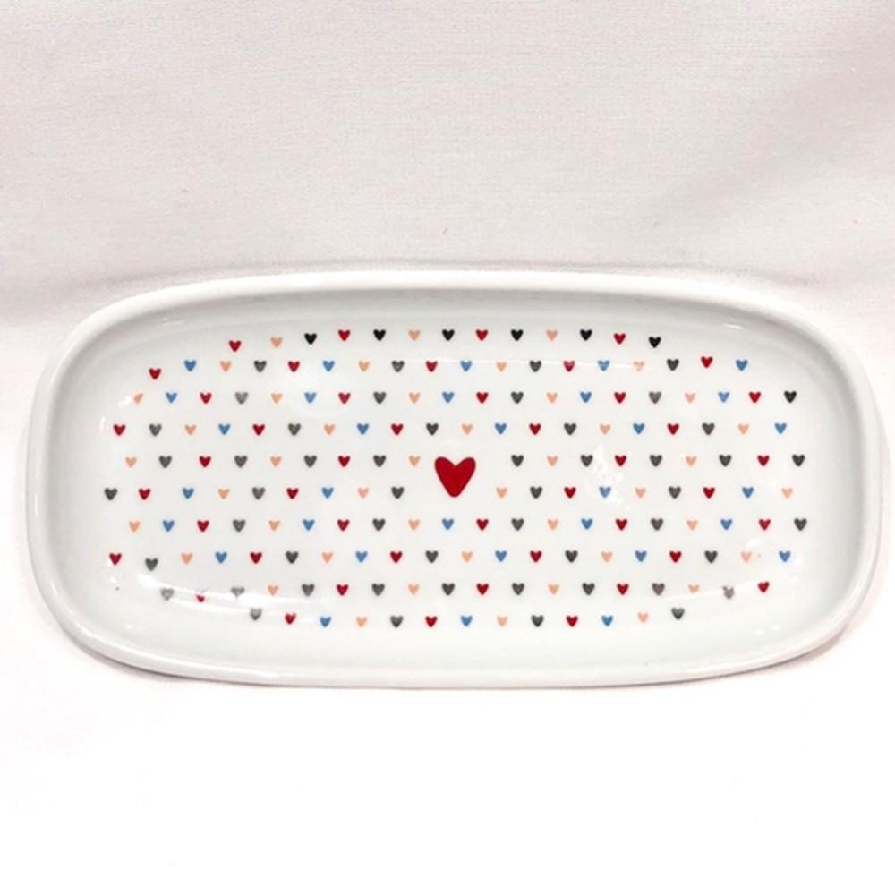 Prato de sobremesa oval amor colorido - und - Cód.2869222.08.55594