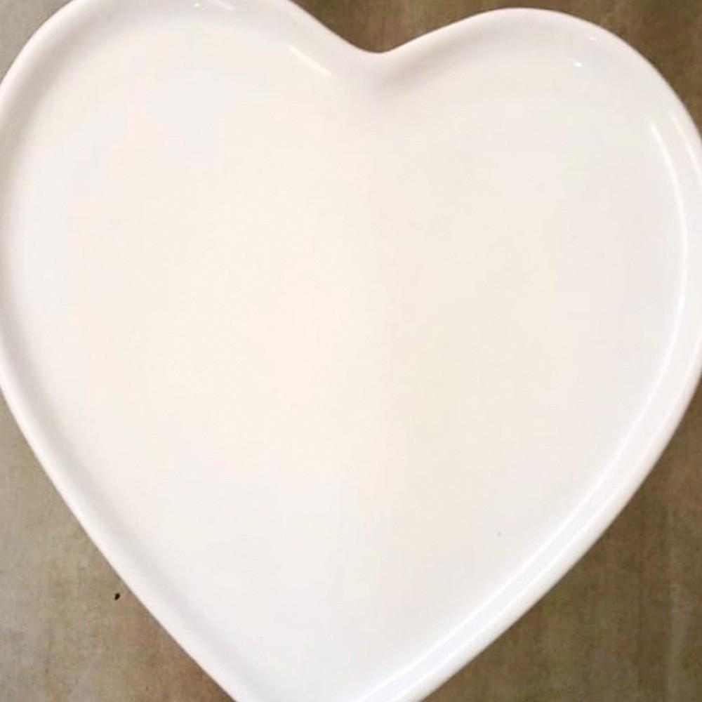 Prato raso de cerâmica reto branco - Cód. ER146B