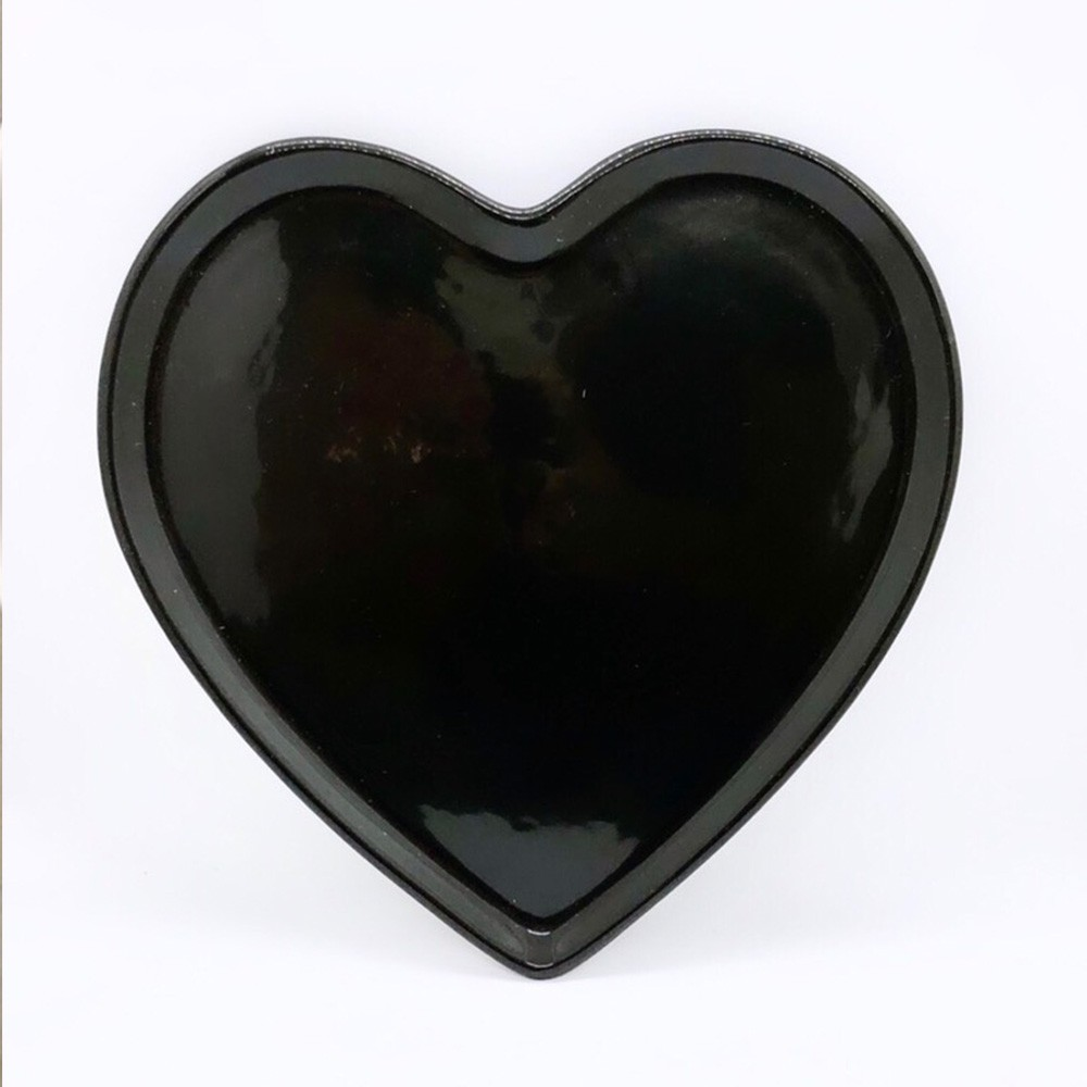 Prato raso de cerâmica reto preto - Cód. ER146P