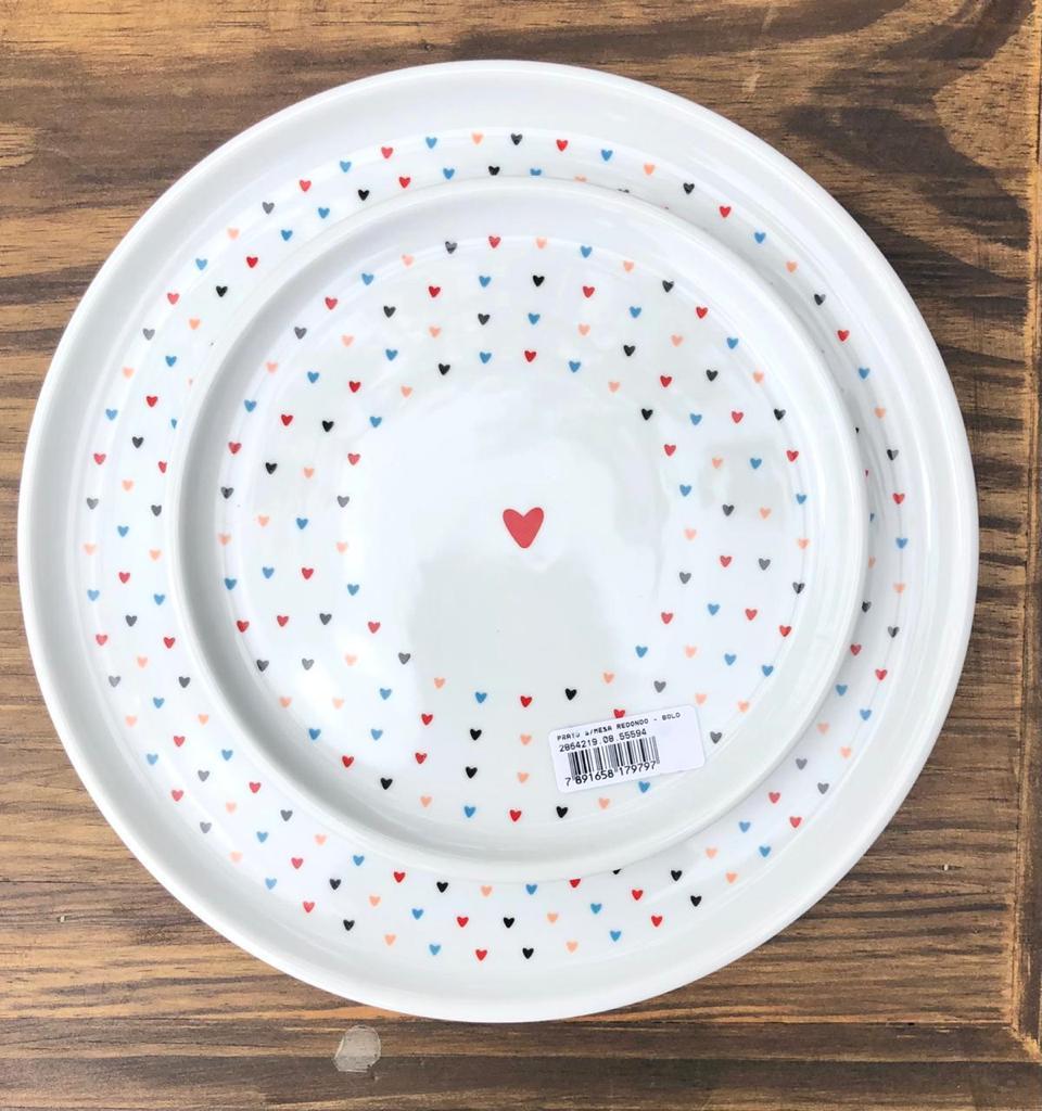Prato raso de porcelana linha colors - Cód. 4.2865226.08
