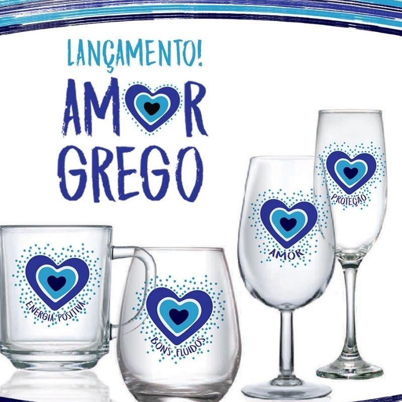 Taça de espumante Amor Grego Proteção 200ml. Cód 8055P