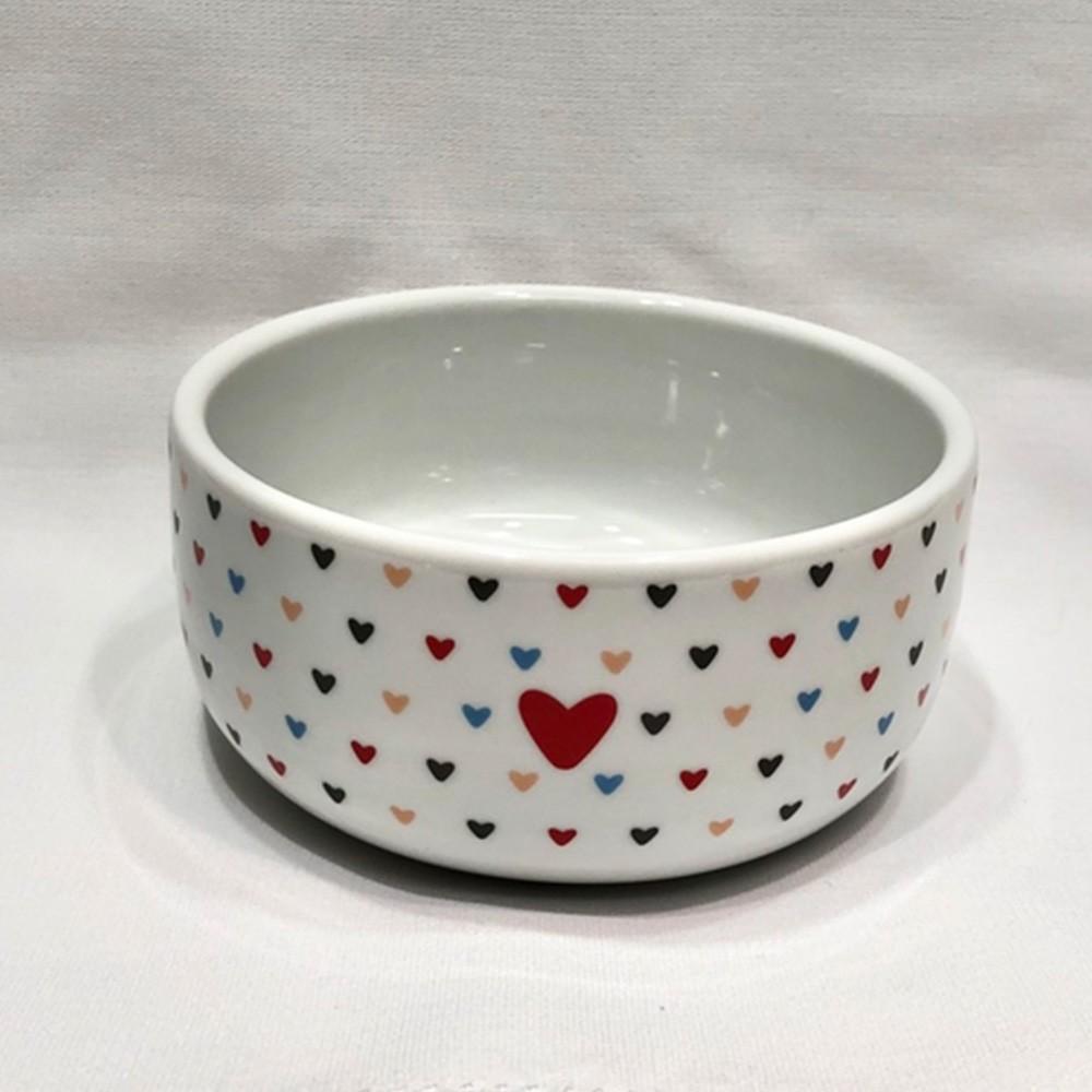 Tigela de porcelana 330ml amor colorido - Cód. 2861211.08.55594