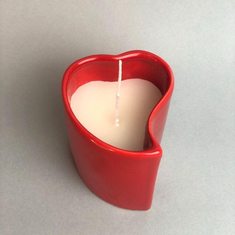 Vaso alto com vela aromática decorativa de 230 gramas vermelha - Cód. EROC456