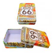Caixa de Cigarros de Metal - Route 66