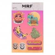 Cartela de Adesivos MRF
