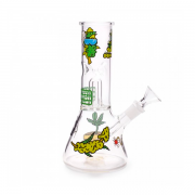 Squadafum Glass Ice Bong Percolator - Stickers Weed