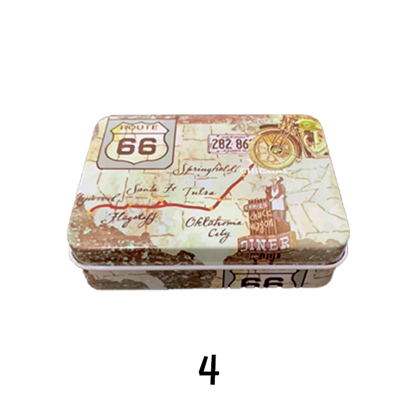 Caixa de Cigarros de Metal - Route 66  - Mr. Fumo