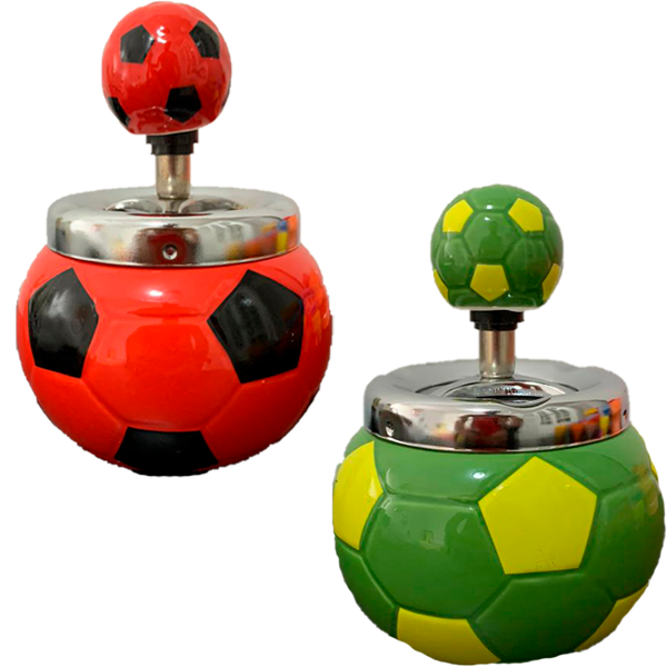 Cinzeiro de Cerâmica - Bola de Futebol  - Mr. Fumo