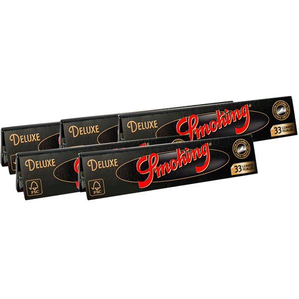 Combo 5 Sedas Smoking Deluxe (King Size)  - Mr. Fumo