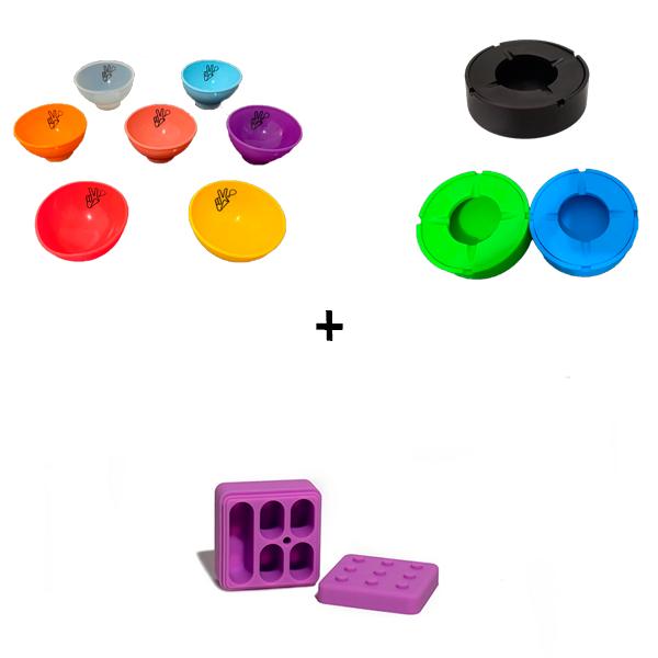 Combo Cuia Suave + Cinzeiro com Tampa (Grande) + Slick Lego 5x1  - Mr. Fumo