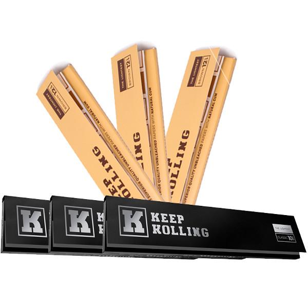 Combo Keep Rolling King Size (3 Classic + 3 Brown)  - Mr. Fumo