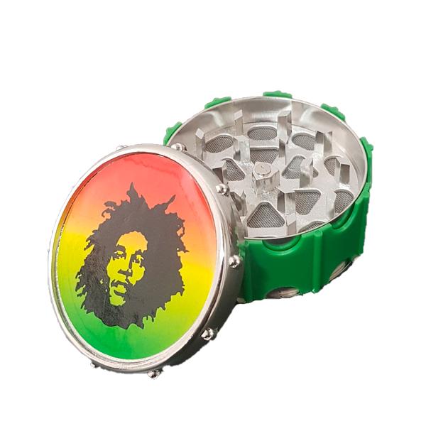 Dichavador de Metal Tambor - Bob Marley  - Mr. Fumo