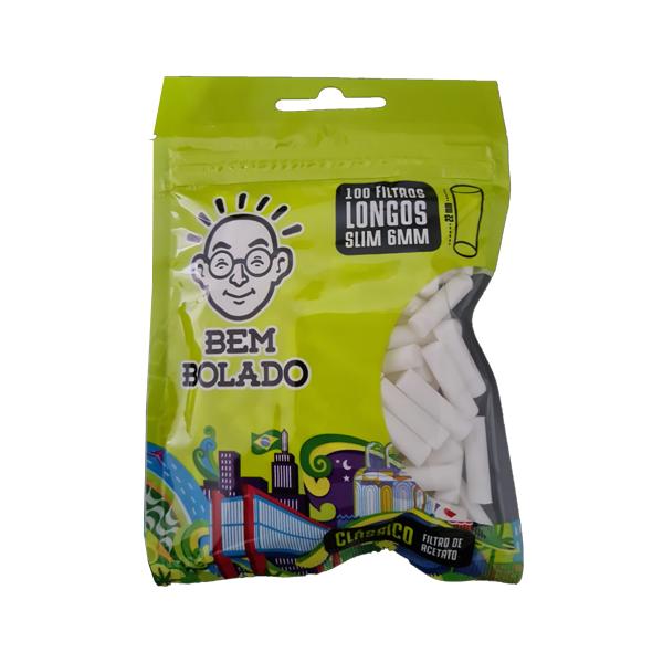 Filtro Bem Bolado Long Slim (6mm)  - Mr. Fumo