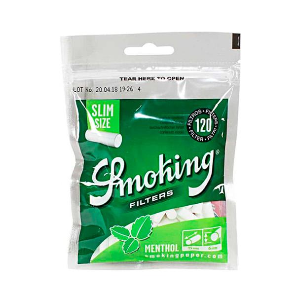 Filtro Smoking Menthol (6mm)  - Mr. Fumo