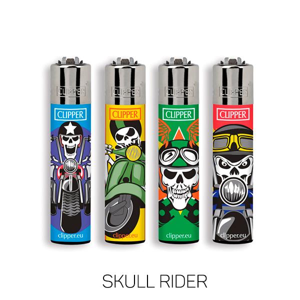 Isqueiro Clipper Grande (Skull Rider)  - Mr. Fumo