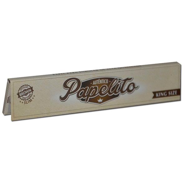 Seda Papelito Brown Slim (King Size)  - Mr. Fumo