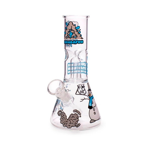 Squadafum Glass Ice Bong Percolator - Stickers Snow  - Mr. Fumo
