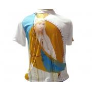 Camiseta Dryfit Esportivo - Nossa Senhora de Fátima e a Lua