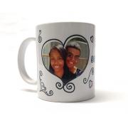 Caneca de Porcelana - Dia dos Namorados - Somos Felizes