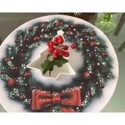 Capa para Sousplat - Natal - Guirlanda Branca