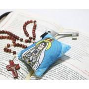 Chaveiro Almofadinha Ilustração Nossa Senhora de Fátima
