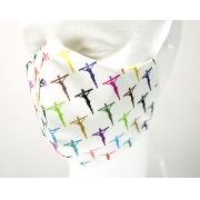 Máscara de Proteção Bico de Pato (EPI) - Estampa Crucifixos