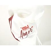 Máscara de Proteção Bico de Pato (EPI) - Frases dos Santos - Nada é pequeno se feito com Amor