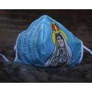 Máscara de Proteção Bico de Pato (EPI) - Ilustração Nossa Senhora de Fátima