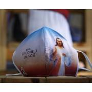 Máscara de Proteção Bico de Pato (EPI) - Jesus Misericordioso