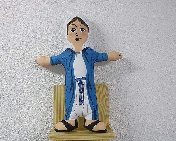 Almofada Boneco de Santo - Nossa Senhora das Graças