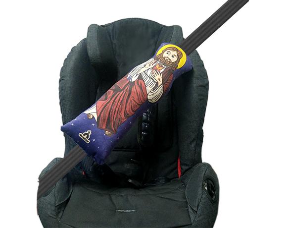 Almofada Cinto De Segurança - Ilustração Jesus
