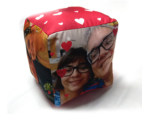Almofada Cubo - Dia dos Namorados - Para Minha Maria