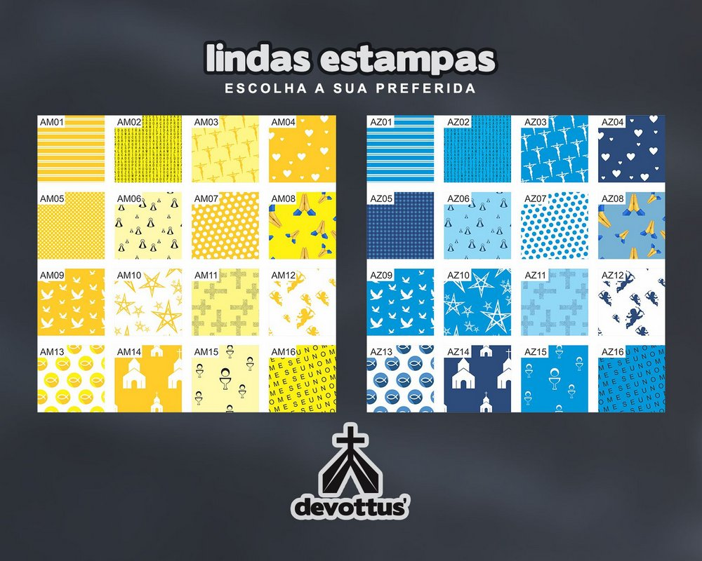 Almofada Letras Coloridas - Escolha sua estampa preferida