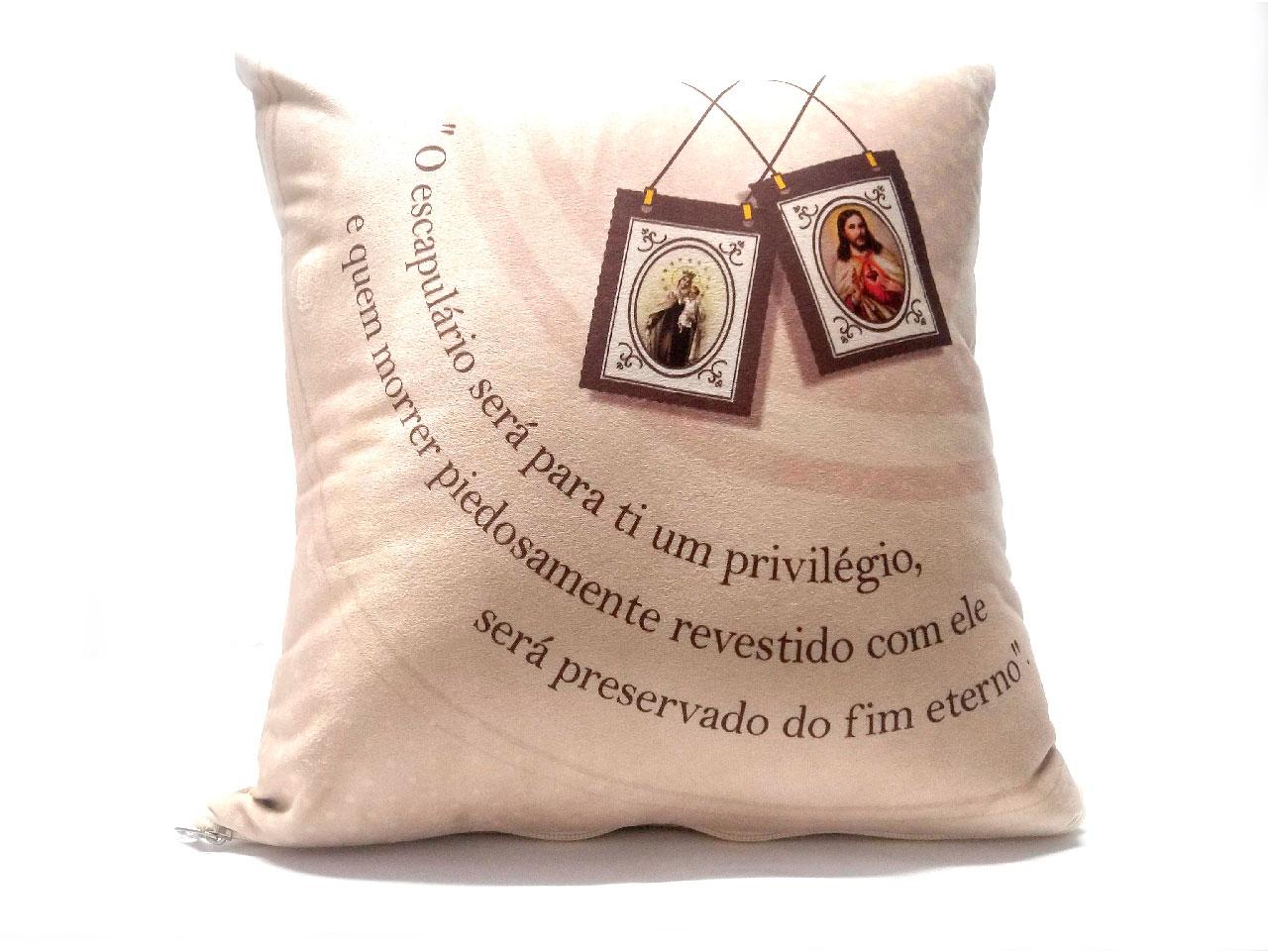 Almofada Quadrada - Escapulário Nossa Senhora do Carmo
