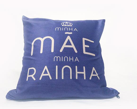 Almofada Quadrada - Minha Mãe, Minha Rainha (Azul)