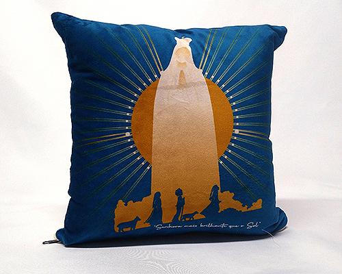 Almofada Quadrada - Nossa Senhora de Fátima Estrela Brilhante - Azul