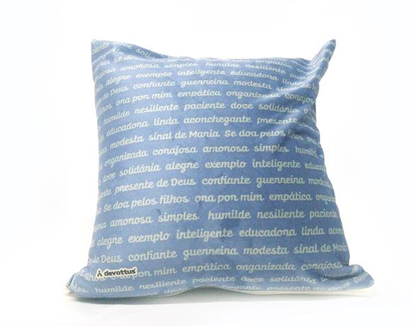 Almofada Quadrada - Valor de Mãe (Azul)