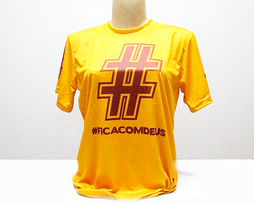 Camiseta Dryfit Esportivo - Frases populares - FICA COM DEUS