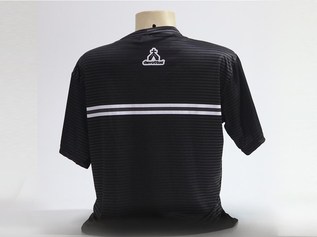 Camiseta Dryfit Esportivo - São Bento Listras - Preta